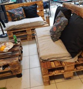 Изготовление столов и диванов в стиле лофт