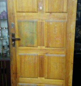 Входная дверь двойная