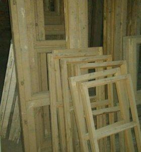 Двери окна деревянные новые