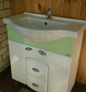 Тумба с раковиной б/у для ванной