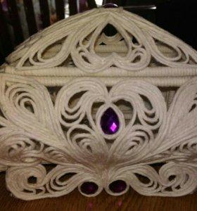 Шкатулка ажурная на подарок, сувенир
