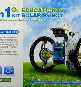 Робот конструктор 14 в 1 на солнечных батареях
