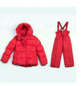 Новый теплый костюм для девочки р.98-104