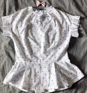 Летняя рубашка с баской(новая)