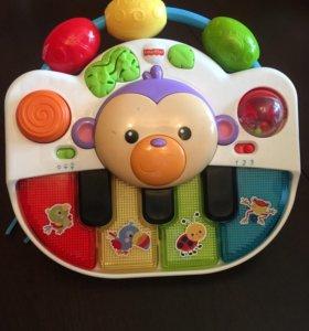 Пианино обезьянка Fisher Price