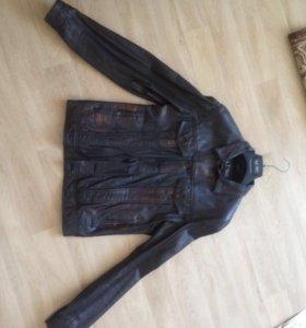 Куртка натур кожа изготовления Индия размер 48S