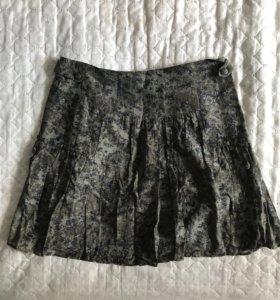 Мини юбка в милитари стиле Naf Naf