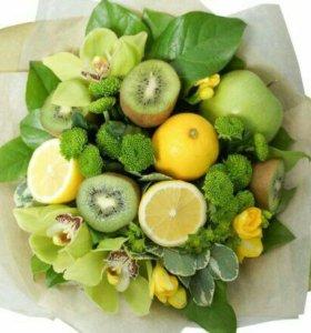 Букеты из сухофруктов и фруктов