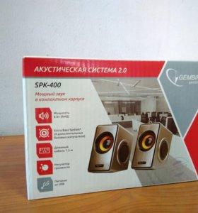 Акустич. система 2.0 Gembird SPK-400