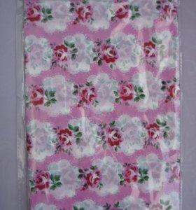 """новая Скатерть """"Цветы"""", цвет: розовый,"""