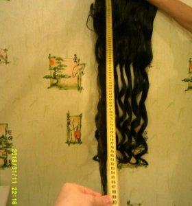 Волосы метровые новые для наращивания заколках
