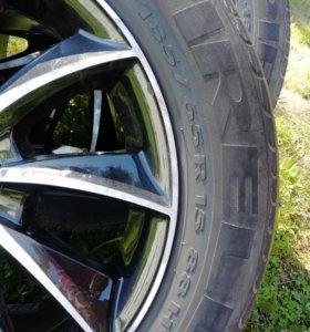 "Резина летняя ""Pirelli"" с дисками бу"