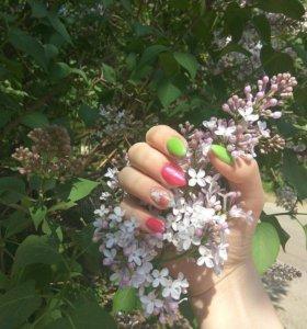 Наращивание ногтей.Шеллак.Педикюр
