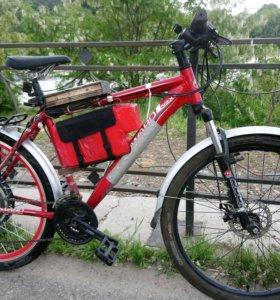 Велосипед с электродвигателем.