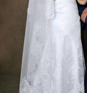 Свадебное платье💃👠 и туфли в подарок 38 размер
