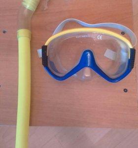 Маски  детские с трубкой для плавания