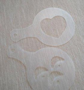 Трафареты для создания рисунка на кофе
