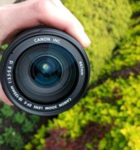 Объектив Canon EFS 18-135 mm macro 0.45m/1.5ft