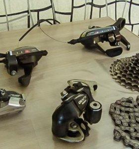 Переключатели, манетки, кассета и цепь