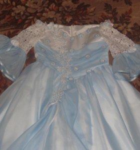 Платье голубое на выпускной
