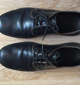 Туфли мужские кожаные rieker 44 размер чёрные