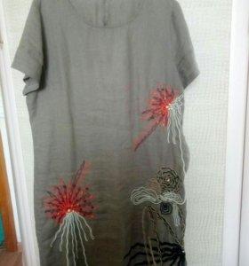 Платье, лен