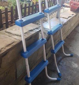 Продам лестницы для надувного бассейна с насосом