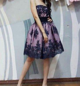 Платье женское (40-42 XS-S, со шнуровкой)