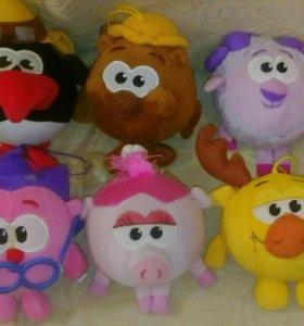 Мягкие игрушки смешарики