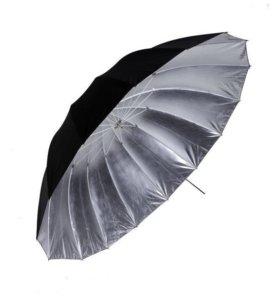 Зонт серебрянный 180см