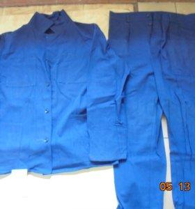 костюмы рабочие(муж),халаты(жен)100% хлопок