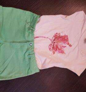 Шорты и футболка Zara для подростка