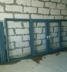 Пластиковая рама с балкона Б/У
