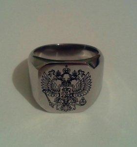 Кольцо с изображением герба РФ