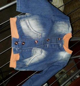 Курточка новая, глориа джинс. 74 и 86