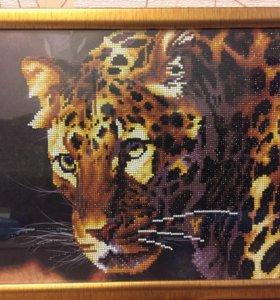 Картина стразами «Тигр»