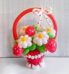 Корзинки из шаров