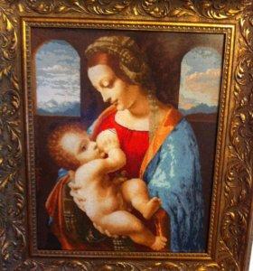 """Картина вышитая крестом """"Мадонна Литта"""""""