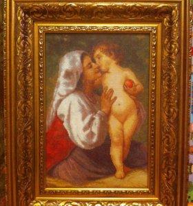 """Картина вышитая крестом """"Поцелуй"""""""