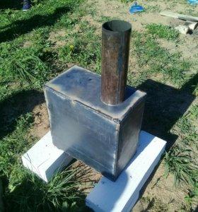 Печь дровяная (буржуйка)