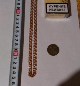 Золотая цепочка 585 пробы «Бисмарк» объёмная Новая