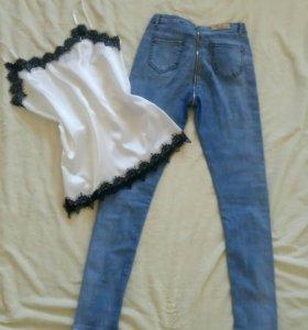 Новые джинсы с молнией