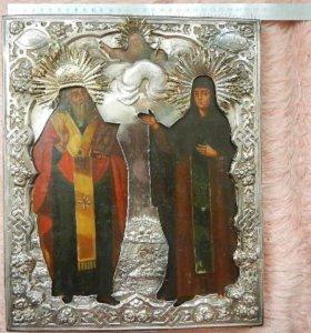 Святитель Андрей и Марфа. Икона