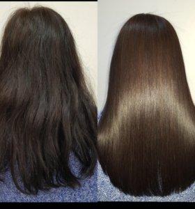 Ботокс, Кератиновое выпрямление, полировка волос