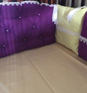 Бортики в кроватку  в наличии новые