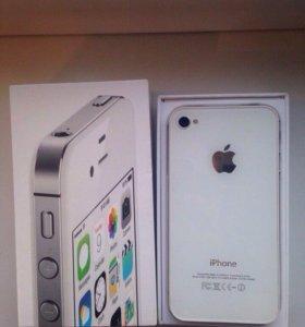 Iphone4s 8гб, белый