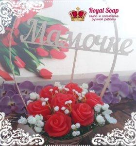 Букет роз из мыла в подарок