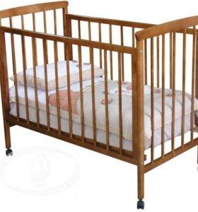 Кроватка детская с610 с матрасом