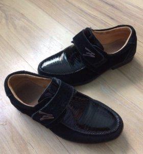 👨🎓Школьные туфли натуральная замша для 1 класса