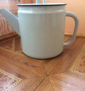 Чайник эмалированный новый